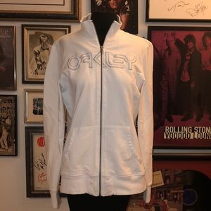 Oakley Spell Out White Logo Full Zip Sweat Jacket